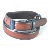 China 2015 Color Matched Oily Genuine Leather Belt For Men, Mans Cow Hide Belt wholesale