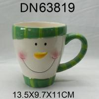 China Christmas Gift Ceramic cup with snowman design wholesale