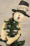 China Christmas Tree Toppers Believe Snowman Tree Topper on sale