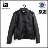 China Men Causal Faux Leather Jacket on sale