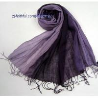 China LN-S3201-2colorful linen scarves wholesale