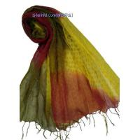 China LN-S3201-10tie-dyed linen scarves wholesale