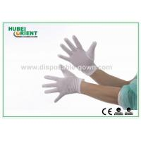 Buy cheap OEM Dsiposable Nylon Gloves for Clean Room , 40D White Color from wholesalers