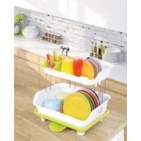 China 2 tiers kitchen dish rack with tray wholesale