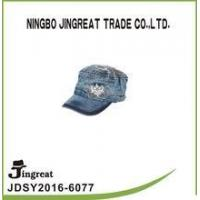 China custom high quality jean worn out washed flat cap for unisex wholesale