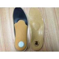 China massage orthotic leather insoles/ shock absorb leather insole wholesale