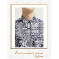 China Gents, Comfortably casual shirts Printed Cotton Denim Shirt for Men-Short sleeve wholesale
