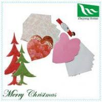China To show your love!! Romantic heart shape handmade greeting card wholesale