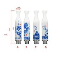 China Ceramic Blue Porcelain drip tips wholesale