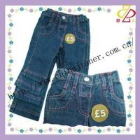 China 2014 new style fashion kid jeans wholesale jeans wholesale