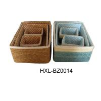 China colored wheat straw storage basket with handle wholesale