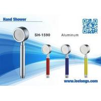 China Spraying Space Aluminum Alloy Metal Hand Held Shower Head Adjustable on sale