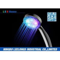 China Color Changing LED Rain Shower Head Handheld For Hotel , Home , Bathtub on sale