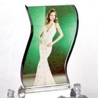 China Wave Crystal Photo Personalised 3D Gift Idea wholesale
