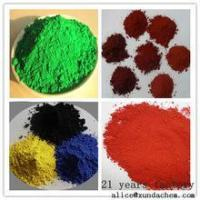 Buy cheap Iron oxide red yellow black green brown orange blue for coating from wholesalers