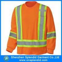 China Custom brushed fleece safety pullover with hi viz bands and 3M tapes wholesale
