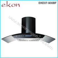 China 90cm Black Stainless Steel Glass Canopy Kitchen Cooker Hoods EKE07/900BF Black wholesale