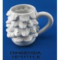 Holiday tree shape ceramic mug