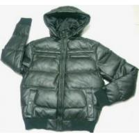 China Casual Men's synthetic leather hooded jackets on sale