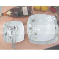 China square shape-18pcs dinner sets with SILVER DECOR YSDR2044 wholesale