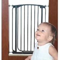 China Baby Safety Gate w Door Extra Wide Metal Expandable Walk Thru Dog Fence Child on sale