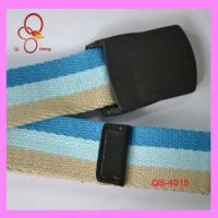 China Wholesale High Quality 1.5inch Canvas Mix Color Fashion Brand For Belt With Plastic Buckle on sale
