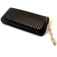 China Black with Golden Lining PU Hollowed Checkbook Holder wholesale