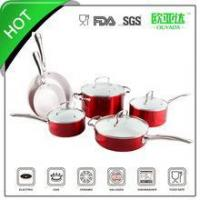 "China ""SGS approved"" 10pcs ceramic coated cookware set wholesale"