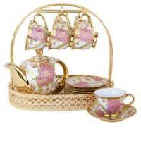 China cup+saucer+stand New design CHAOZHOU factory coffee mug sets with stand on sale