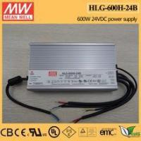 China MEAN WELL 600w 24VDC dimmable High wattage led driver HLG-600H-24B wholesale