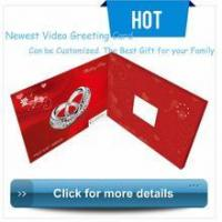 China Greeting Video Card luxurious wedding invitation card,video wedding cards design wholesale