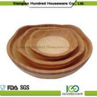 China Custom handmade wooden bamboo salad bowl stand wholesale
