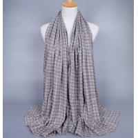 China Pure cotton plaid scarf wholesale