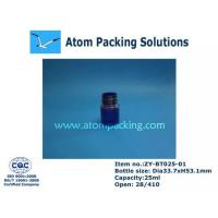 China 25ml Clear Blue Round Medicine Bottle wholesale