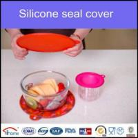 China Reusable silicone suction lid silicone seal cover silicone bowl lid colorful silicone lid wholesale