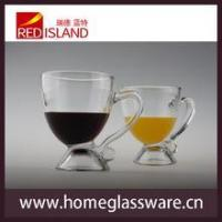 China 8 OZ glass cup for juice and wine with handle,transparent Creative Cup wholesale