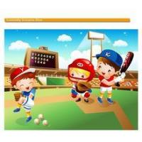 China Wall decor Removable sticker Boy bedroom decor Home Decor Sports Baseball Players wall sticker wholesale