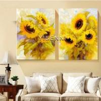Buy cheap Frameless painting YISENNI modern sunflower painting by number for home decoration from wholesalers