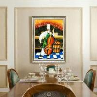 Buy cheap Figure oil painting YISENNI lively cook chef oil painting restaurant decor painting art from wholesalers