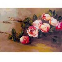 Buy cheap Flower oil painting YISENNI modern artiest real rose painting for bedroom decorating from wholesalers