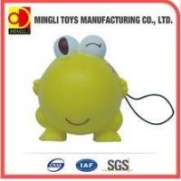 China PU Stress Toys Factory custom Mini keychain frog Cartoon action figures for baby toy wholesale