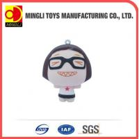 China PU Stress Toys Factory custom Mini keychain Cartoon action figures for baby toy wholesale