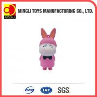 China PU Stress Toys Hot new products Mini keychain rabbit action figures for baby toy wholesale