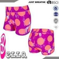 China lovely girls/kids sexy running logo compression tight shorts with spotted printing pattern on sale