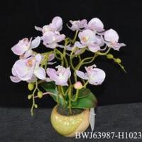 China Real Touch Silk Flowers Latex Orchid wholesale