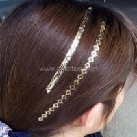 Buy cheap New fashion gold and silver temporary hair tattoos metallic hair strips tattoo f from wholesalers