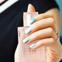 Buy cheap Wholesale shinny holographic foil nail art sticker from wholesalers