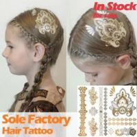 Buy cheap Wholesale floral temporary waterproof metallic gold hair tattoo sticker manufact from wholesalers