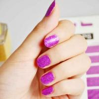 Buy cheap Wholese purple nail art sticker shining nail wrap manufacturer from wholesalers
