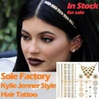 Buy cheap Wholesale temporary gold and silver hair and body tattoo sticker Kylie Jenner ha from wholesalers